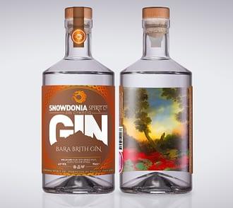 bara brith gin, front and back
