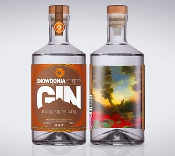 bara brith gin, front and back